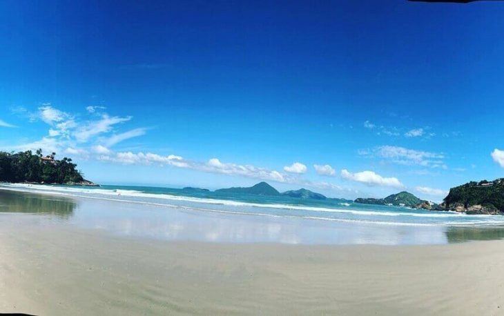 A praia do Tenorio em Ubatuba SP